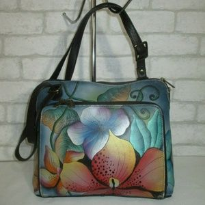 AnuschkaPainted Leather Crossbody Bag